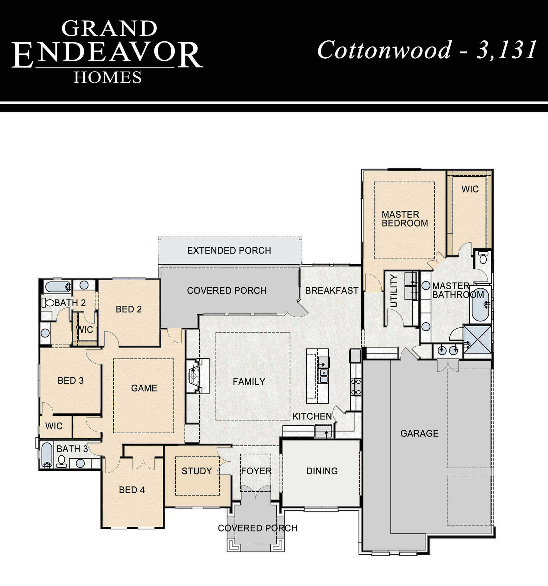 Grand Endeavor Homes Floor Plans Cottonwood Grand Endeavor
